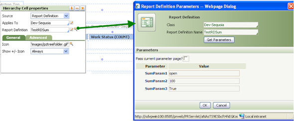 Pass Parameters to Report Definition