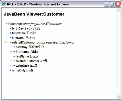 JavaBean viewer
