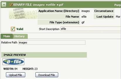 Binary file rule