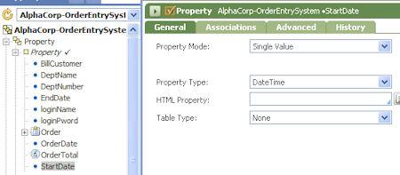 create dateTime properties