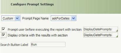 select the Display Criteria checkbox