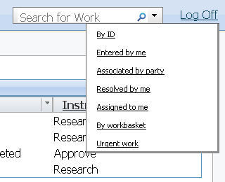 search choices