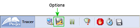 Tracer Options button