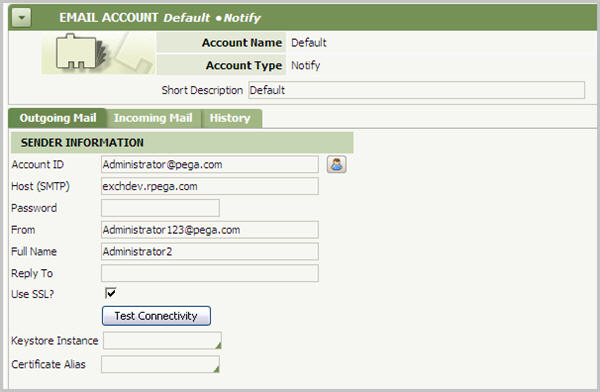 EmailAccount DefaultNotify Problem
