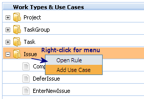 Add use case to tree