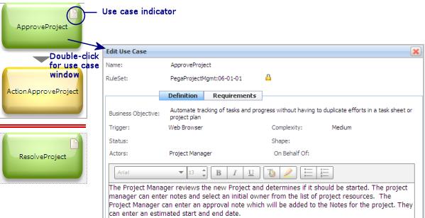 Open Edit Use Case window