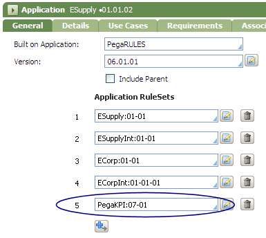 Add KPI Framework RuleSet to the Application RuleSets array