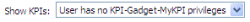 User has no KPI-Gadget-MyKPI privileges