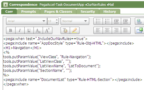 Condition logic added to correspondence rule