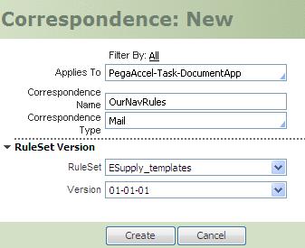 New correspondence rule