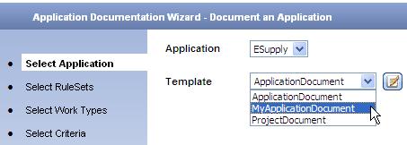 Select custom template