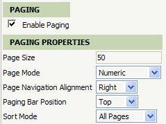 paging parameters