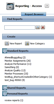 report browser categories