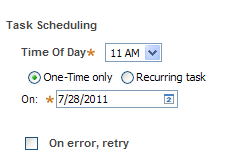 task scheduling for one-time task