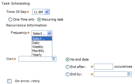 recurring task scheduling