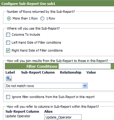 configure sug-report form