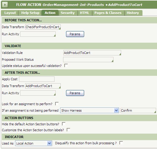 AddProductToCart flow action rule