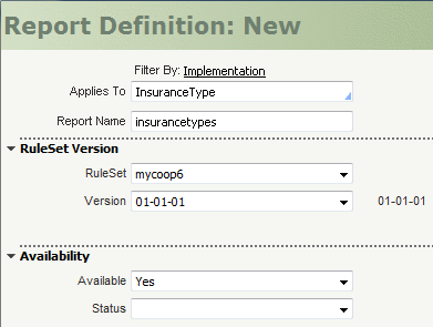 How to configure a Dynamic Select Control using a Report
