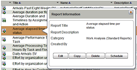 right-click menu for reports