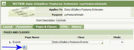Pages and Classes Tab