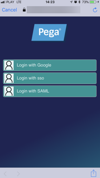 Configuring a mobile app to use external login with OpenID