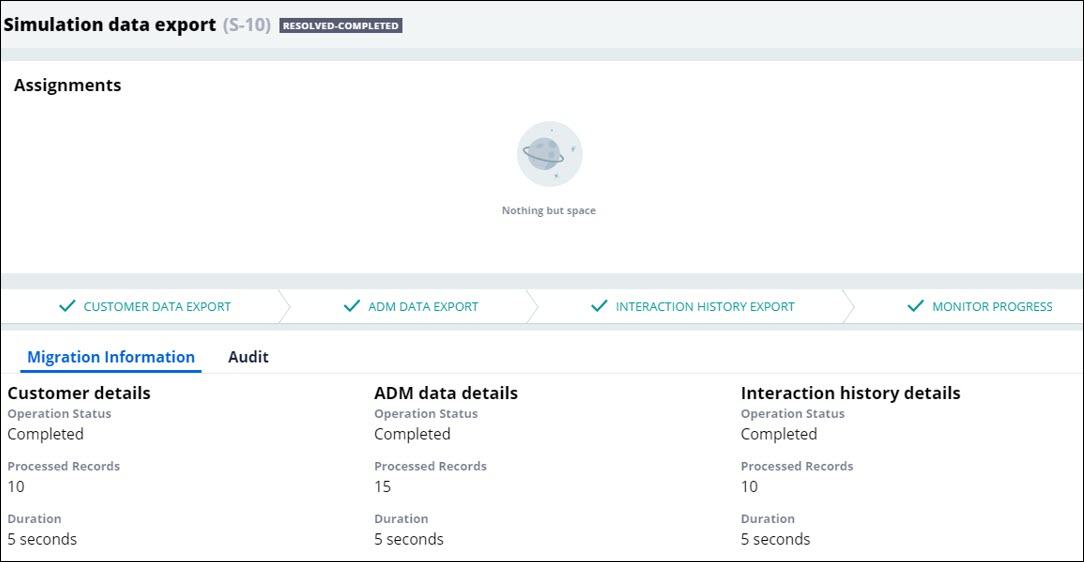 Simulation data export case resolved