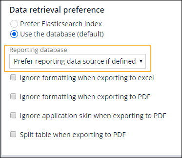 """Reporting database field"""