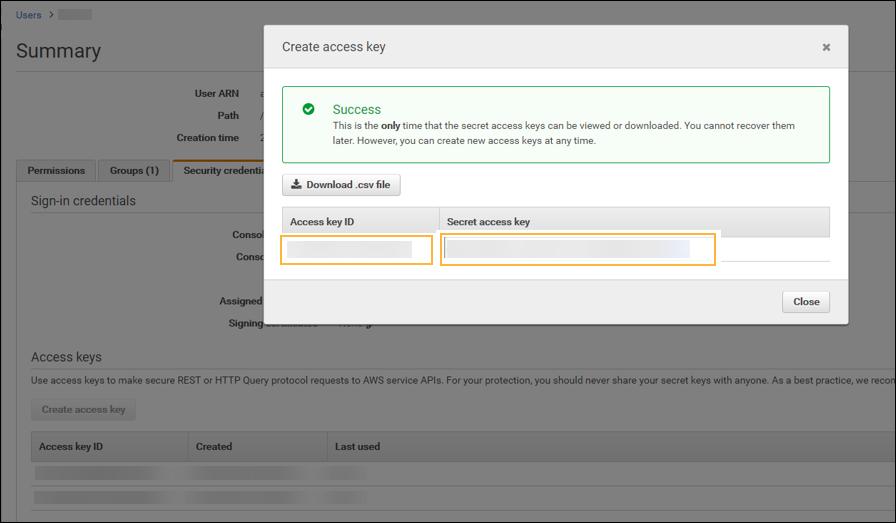 Configuring an Amazon Web Services Key Management Service