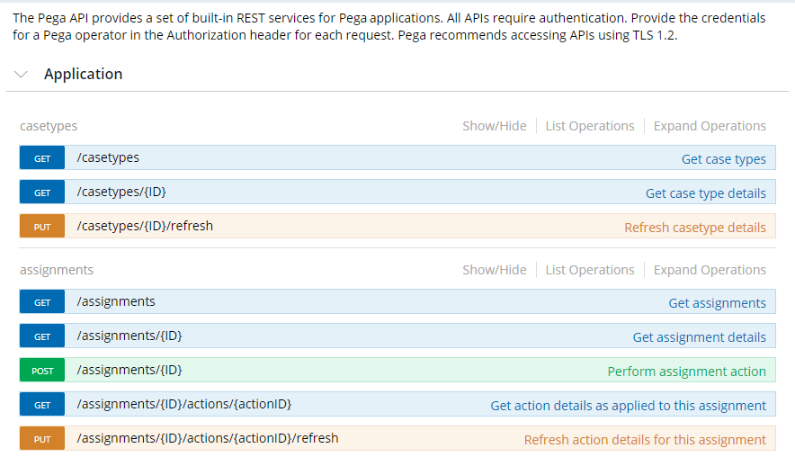 Pega API built-in REST services
