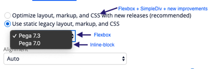 """""""Flexbox setting Use static legacy layout, markup, and CSS"""""""