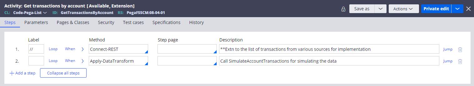 Get transactions