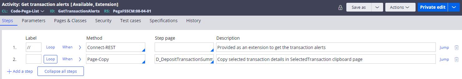 Get transaction alerts