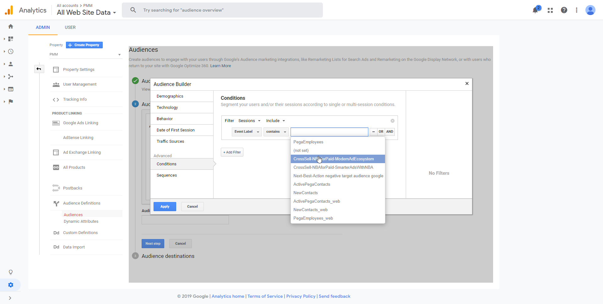"""Selecting the Google Analytics Event"""