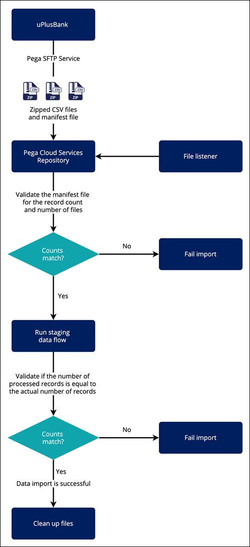 """""""A flowchart of the data import process"""""""