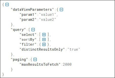 Sample JSON for retrieving data without pagination