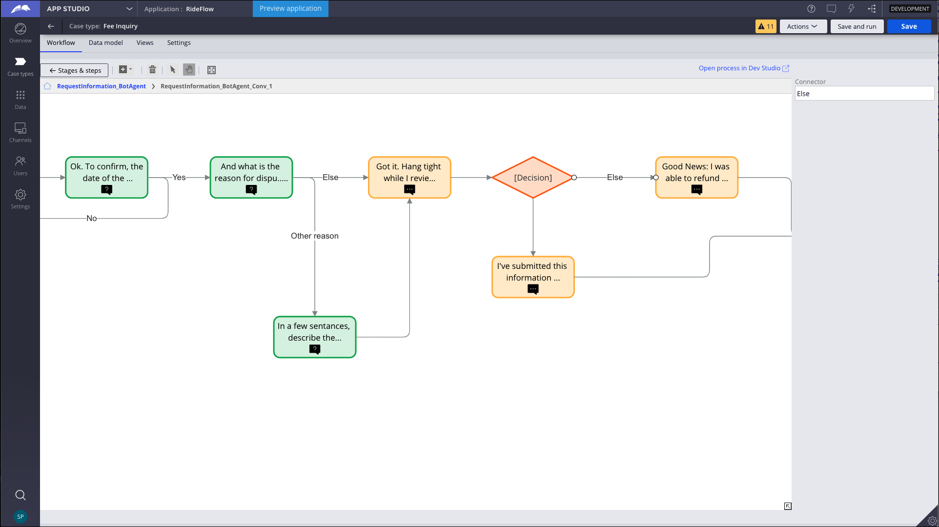 IVA flows authoring tool