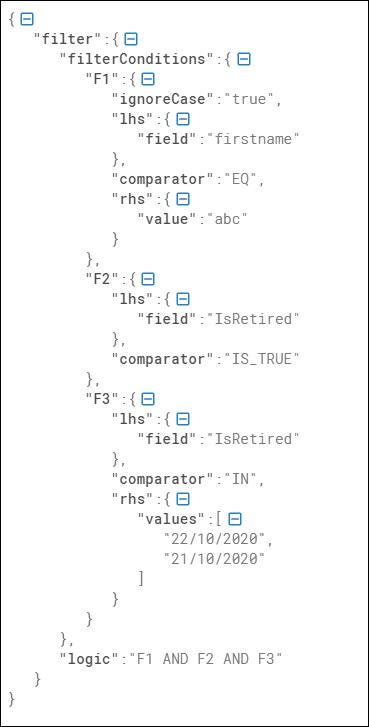 Sample filter element